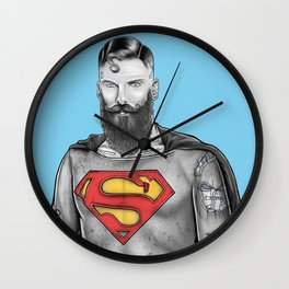 Super Bearded Reeve Wall Clock
