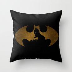 The dark man Throw Pillow