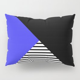 Blue & Black Geometric Abstraction Pillow Sham