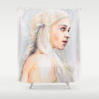 danny haas Shower Curtains featuring Danny by Maria Bruggeman