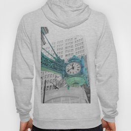The Blue Chicago Clock Hoody