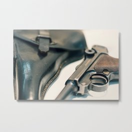 Luger P08 Parabellum handgun. Metal Print