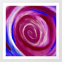 Deep Red Cyclone Art Print
