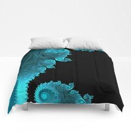 Black Ice - Fractal Art Comforters