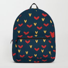 Mini Red & Yellow Hearts Repeated Pattern 077#001 Backpack