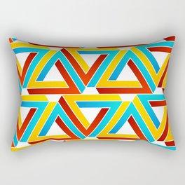 Colorful Penrose triangles- optical illusion backdrop Rectangular Pillow