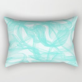 Turquoise Smoke Rectangular Pillow