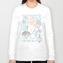 I love vegetables! Long Sleeve T-shirt