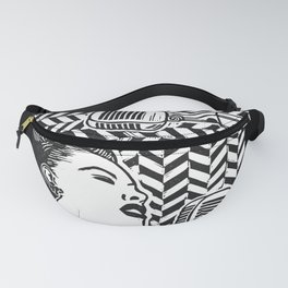 Lady Day (Billie Holiday block print blk) Fanny Pack