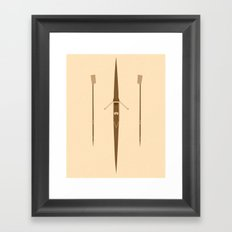 rowing single scull Framed Art Print