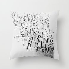 Typography and  the Black Hole Throw Pillow