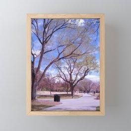 A Walk Through the Park Framed Mini Art Print