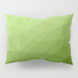 Greenery ombre gradient geometric mesh Pillow Sham