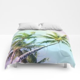 Relaxing Rainbow Color Palms Comforters