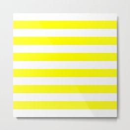 Mariniere marinière yellow Metal Print