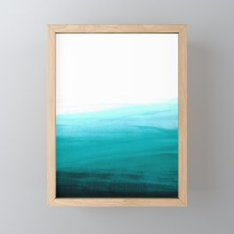 Ombre background in turquoise Framed Mini Art Print
