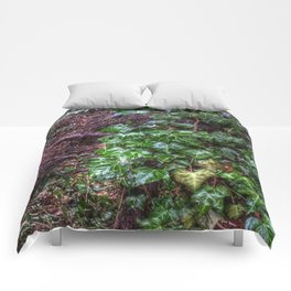 Gnarled vines & Ivy on a Misty Day Comforters