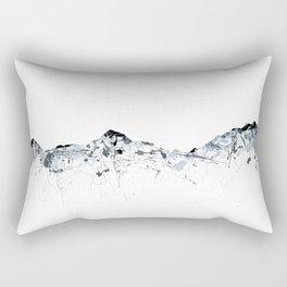 Eiger/Mönch/Jungfrau mountainsplash grey Rectangular Pillow