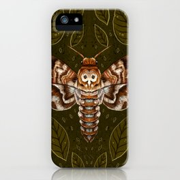 Deaths-Head Moth iPhone Case