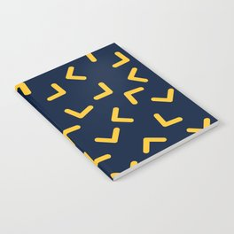 Boomerangs / V pattern Notebook