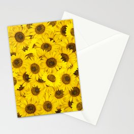 Lots of sunflowers Stationery Cards