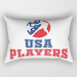 USA Basketball Players icon Rectangular Pillow