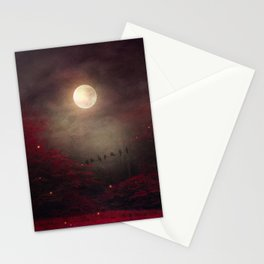 Red Sounds like Poem Stationery Cards