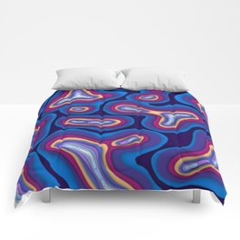 Organic Shapes Coloful Comforters