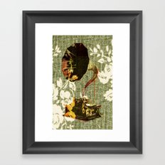 Dueling Phonographs I Framed Art Print
