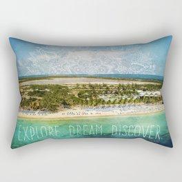 Explore. Dream. Discover. Rectangular Pillow