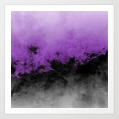 Zero Visibility Radiant Orchid Art Print