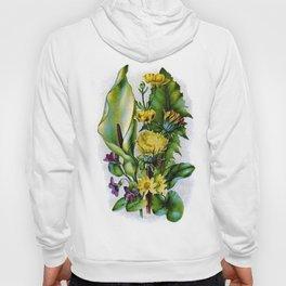 Vintage Wildflowers Dandelion and Violets Hoody