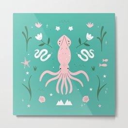 Summer Ocean Pattern Metal Print