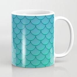 Mermaid Scales Aqua Coffee Mug