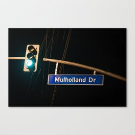 Mulholland Drive Canvas Print