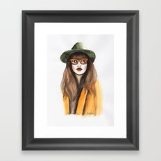You can leave your hat on Framed Art Print