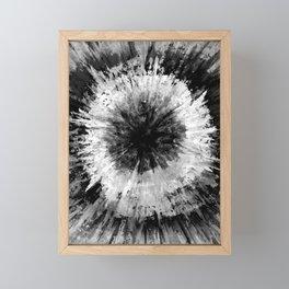 Black and White Tie Dye // Painted // Multi Media Framed Mini Art Print