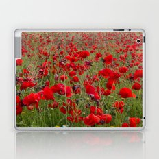 Field of poppies in the lake Laptop & iPad Skin