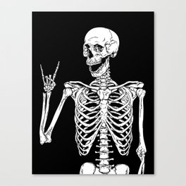 Rock and Roll Skeleton Canvas Print