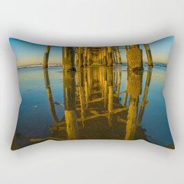 Mirror Under the Pier Rectangular Pillow