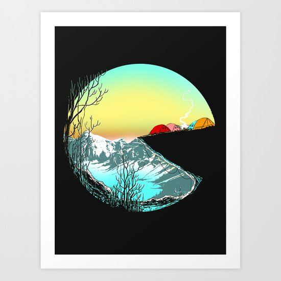 Pac camp Art Print