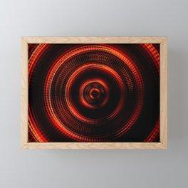 Red Shockwave Framed Mini Art Print