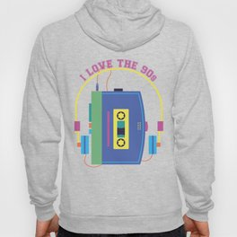 I Love the 90s Print - Nineties Retro Gift Hoody