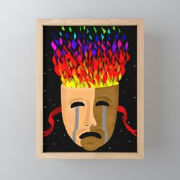 The Color of Tragedy Framed Mini Art Print