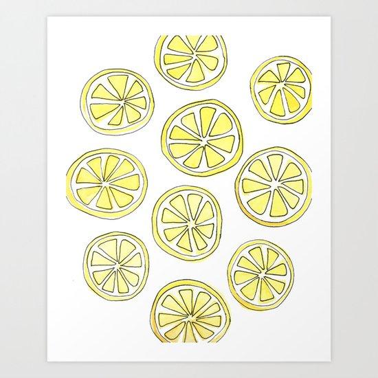 Lemon Slices Art Print