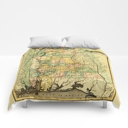 Map of Alabama (1826) Comforters