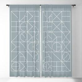 Mid Century Geometric 02 Blackout Curtain