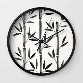 Black Bamboo Wall Clock