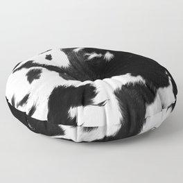 Rustic Cowhide Floor Pillow