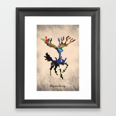 I Am Legendary X - Geometric Framed Art Print